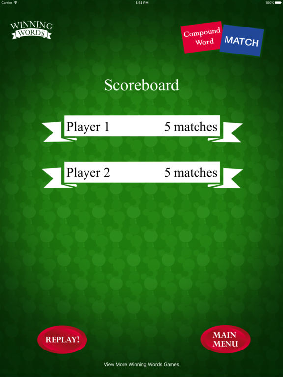 Compound Word Match Screenshots
