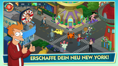 Futurama: Worlds of Tomorrow iOS Screenshots