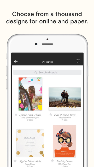 download Paperless Post: Invitations and eCards appstore review