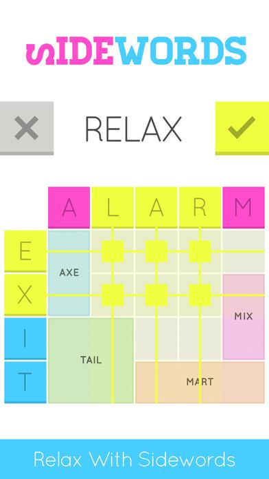 Sidewords iOS Screenshots