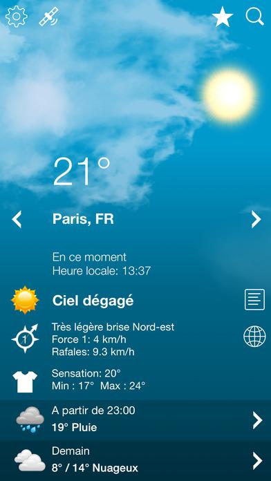 download Météo France et Météo Suisse XL  PRO apps 4