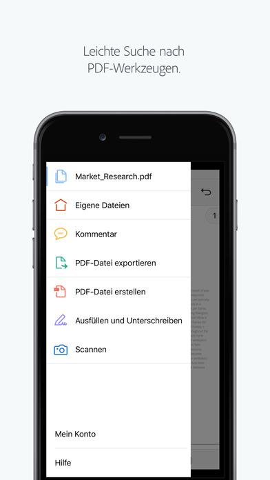 Adobe Acrobat Reader: PDFs anzeigen und erstellen Screenshot