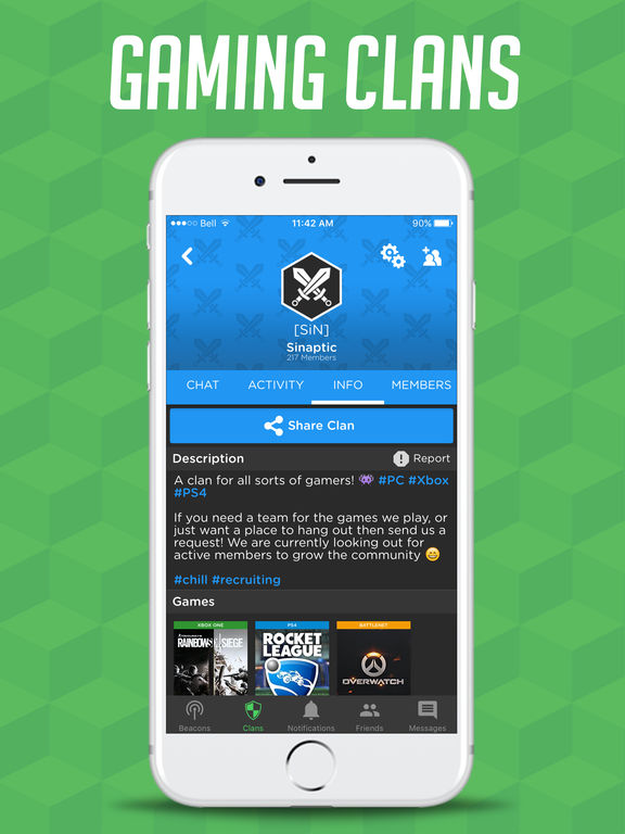 """GamerLink - LFG & Chat for Gamers!"" im App Store"