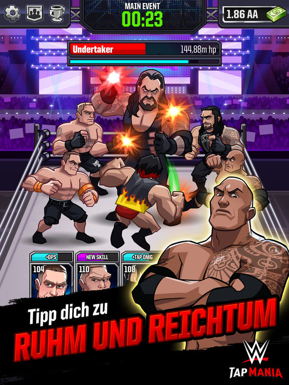 Screenshot 1 WWE Tap Mania