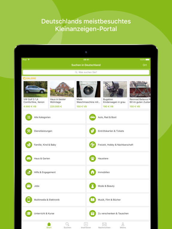 ebay kleinanzeigen en el app store. Black Bedroom Furniture Sets. Home Design Ideas