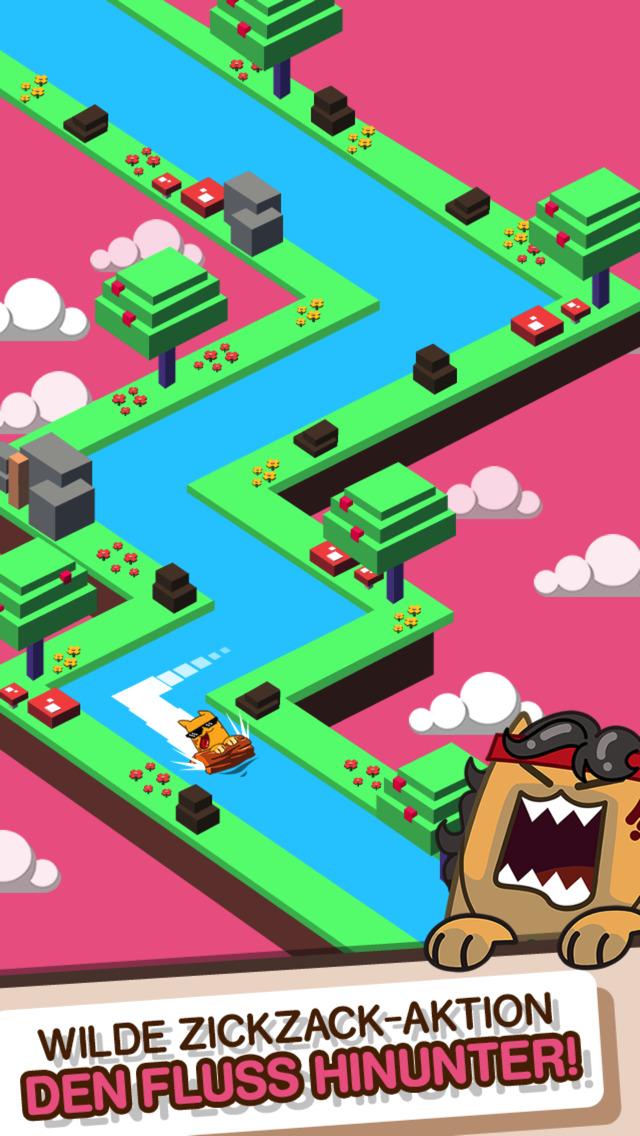 Screenshot 2 Splashy Cats: Endless Zigzag Arcade Water Game