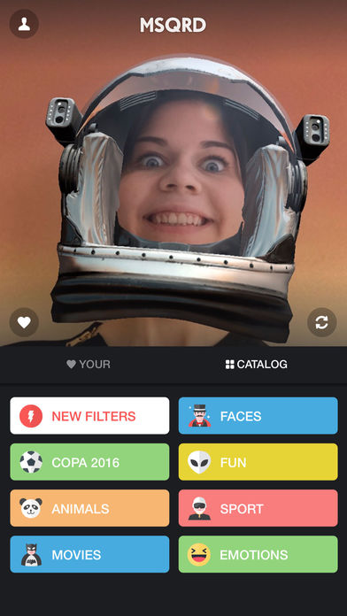 MSQRD — Filtros en vivo e intercambio de caras Screenshot