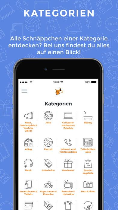 Schnäppchenfuchs Screenshot