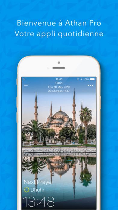 athan pro pour muslim horaires de pri re islam avec coran ramadan 2016 dans l app store. Black Bedroom Furniture Sets. Home Design Ideas