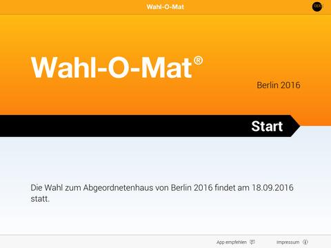 Wahl-O-Mat Screenshot