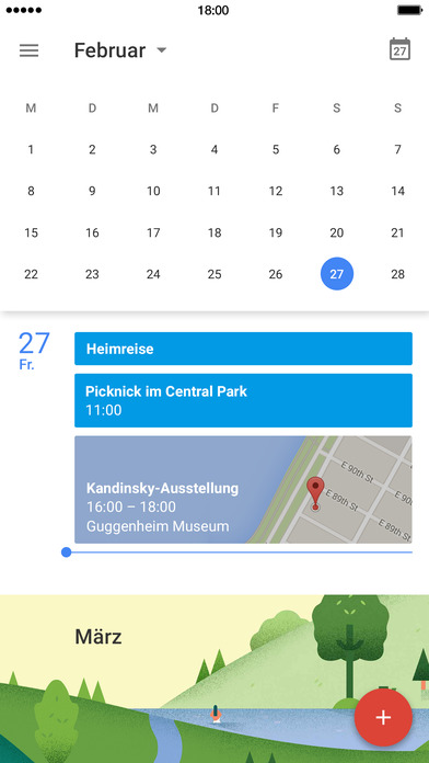 Google Kalender Screenshot