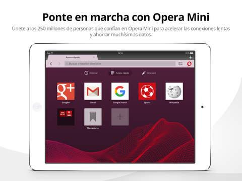 Navegador web móvil Opera Mini Screenshot