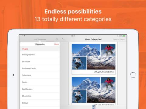 Vorlagen für Pages Pro Screenshot