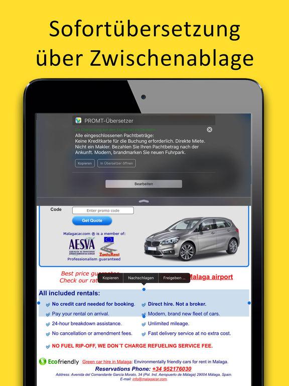 PROMT Offline-Übersetzer und Wörterbuch Screenshots