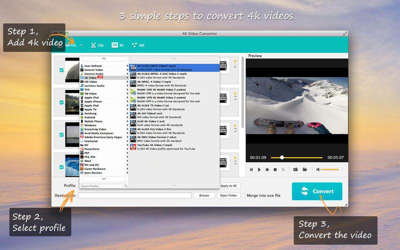 4K Video Converter - Best 4K UHD Movie Converter Screenshots