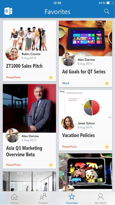 Office Delve - for Office 365 Screenshot