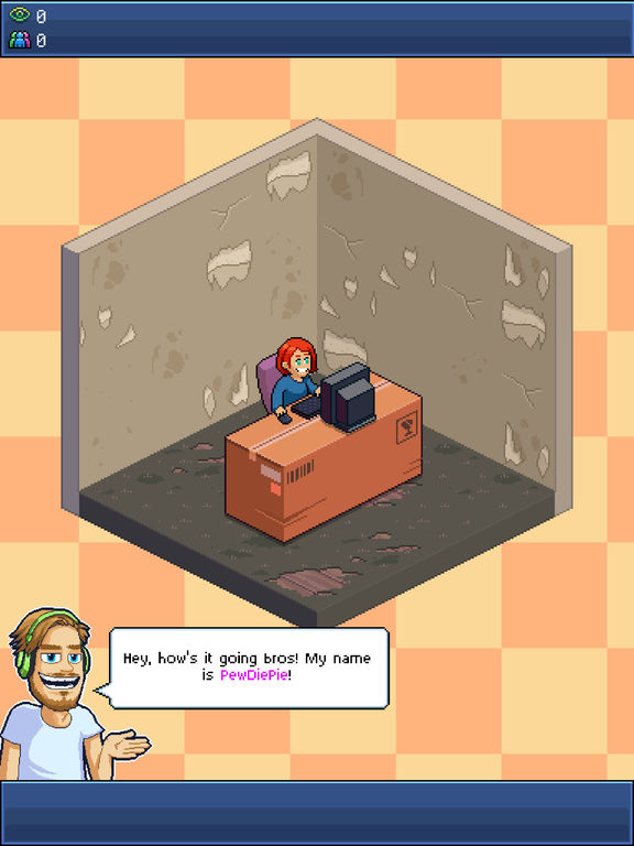 PewDiePie's Tuber Simulator iOS Screenshots