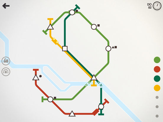 Mini Metro iOS Screenshots