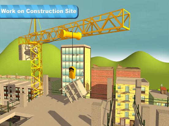 Tower Crane 3D Simulator Full - Start a construction, build a city! Screenshots
