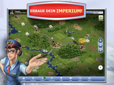 Rail Nation - das Eisenbahn Strategiespiel iOS Screenshots