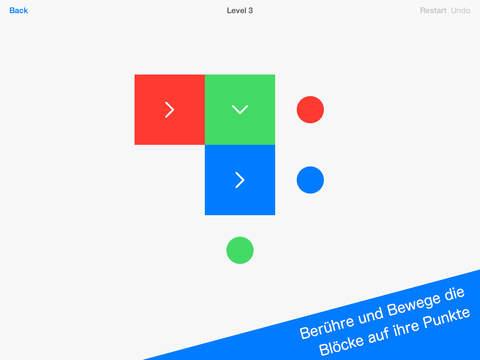Squares - Kniffliges Puzzle Spiel iOS Screenshots