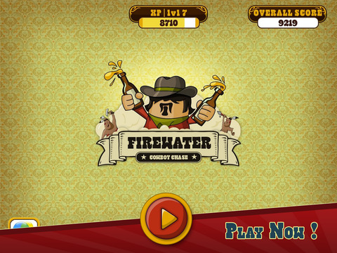 Firewater: Cowboy Dash iOS Screenshots