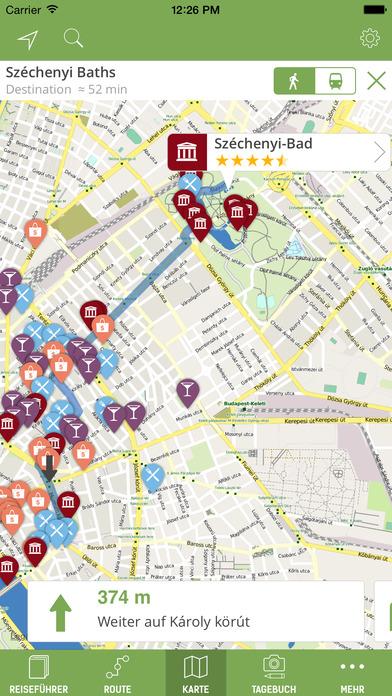 Budapest Reiseführer (mit Offline Stadtplan) Screenshots