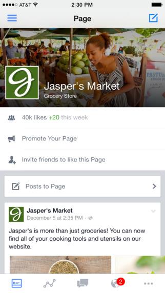 Facebook-Seitenmanager Screenshot