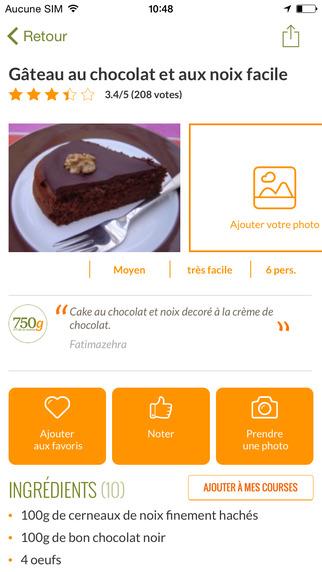 750 grammes 77 000 recettes de cuisine dans l app store for 750grammes com fiche de cuisine