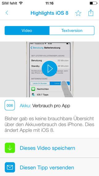 100 Video-Tipps zu iOS 8 für iPad & iPhone iOS