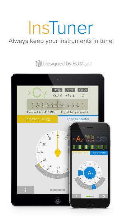 insTuner - Chromatic Tuner with Tone Generator iPhone