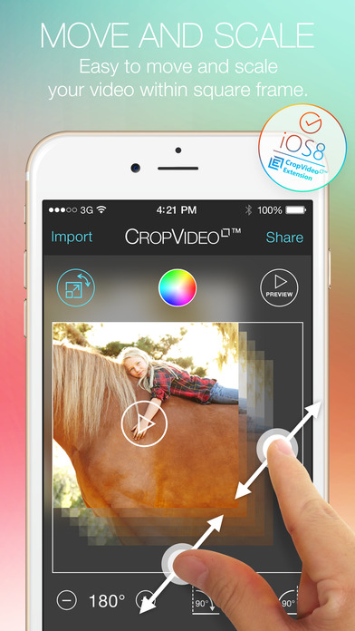 Crop Video Square - Video Editor for Pinch Zoom Adjust Resize and Crop Your Movie Clip Into Square or Rectangle Size for Instagram Screenshot