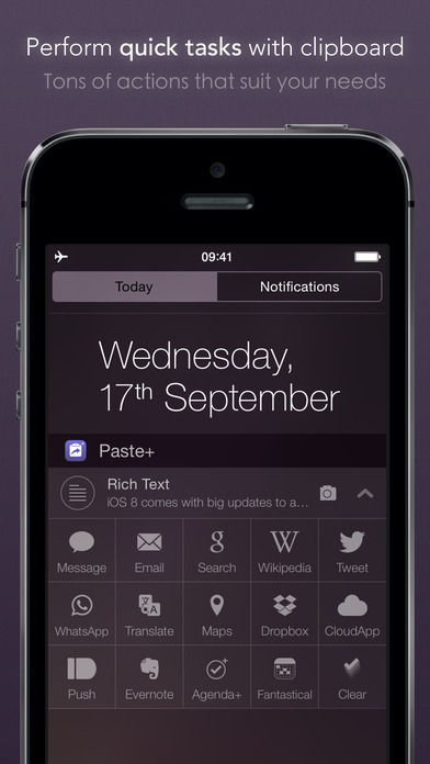 Paste+ | Clipboard Action Widget Screenshot