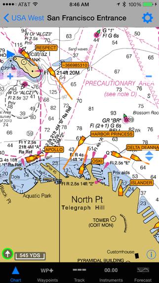inavx marine navigation noaa sailing charts boating chartplotter screenshot. Black Bedroom Furniture Sets. Home Design Ideas