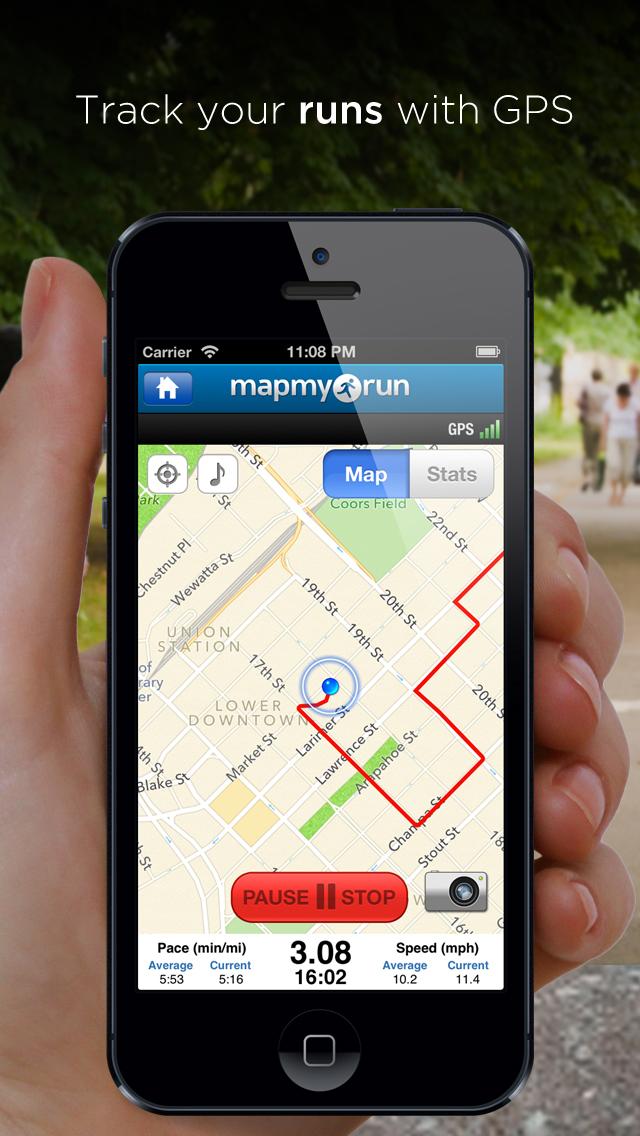 Laufe mit Map My Run - GPS-Laufen, Joggen, Walken, Workout-Tracking on