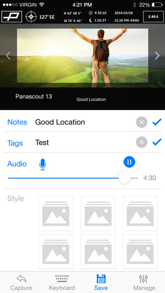 PANASCOUT Screenshot