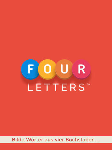 Four Letters iOS Screenshots