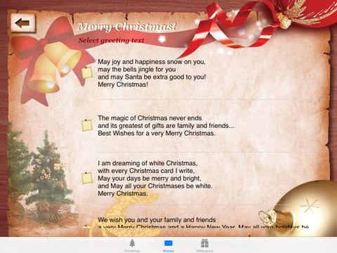 Weihnachtsgr e mit ipad im app store - Weihnachtskarte spanisch ...
