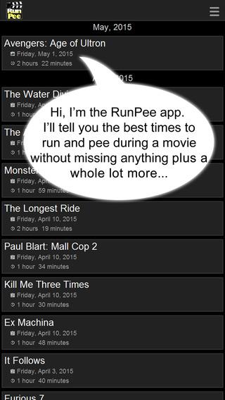 RunPee.com Screenshot