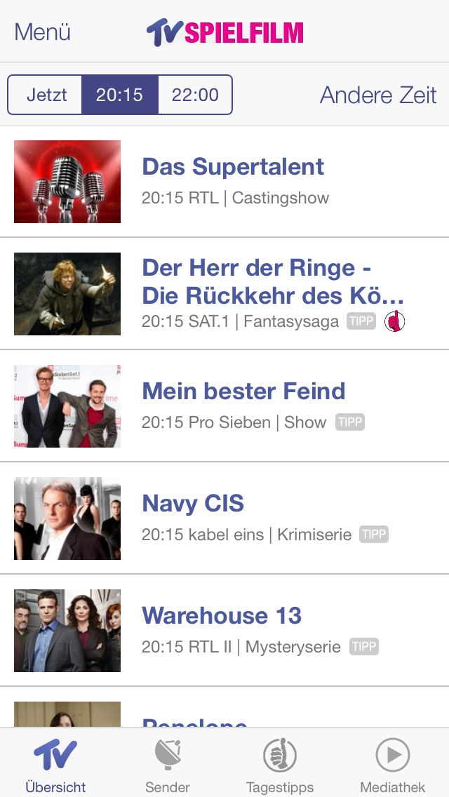 tv spielfilm tv programm tv spielfilm verlag gmbh app. Black Bedroom Furniture Sets. Home Design Ideas