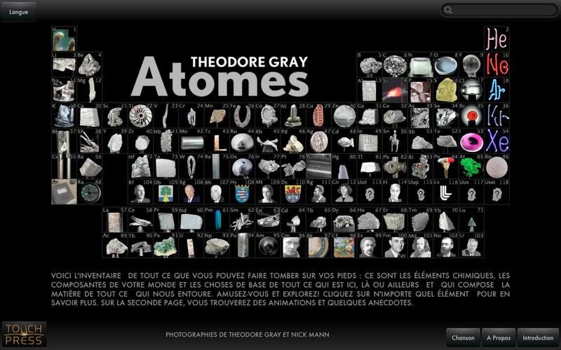 Atomes dans le mac app store for V tableau periodique