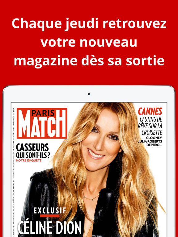 paris match dans l app store. Black Bedroom Furniture Sets. Home Design Ideas