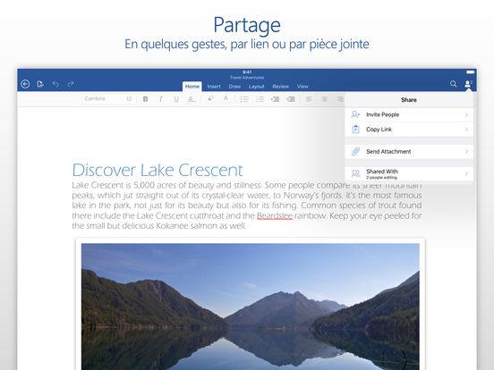 Microsoft Word Capture d'écran