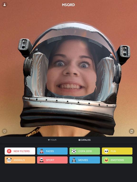 MSQRD — Filtros en vivo e intercambio de caras Screenshot