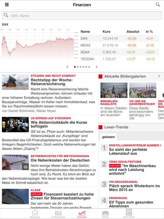 WirtschaftsWoche Online Screenshot