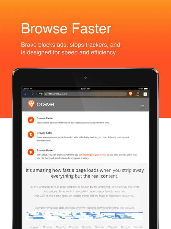 Brave Web Browser: Fast with built-in adblock Screenshot