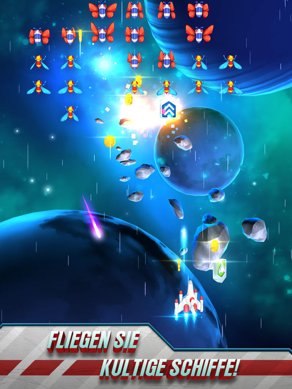 Galaga Wars iOS Screenshots
