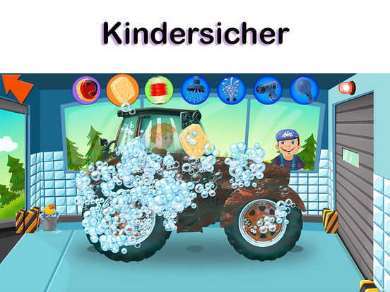 auto waschanlage autos laster spiel f r kinder im app store. Black Bedroom Furniture Sets. Home Design Ideas