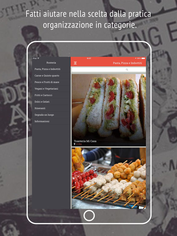 Rosteria - Street Food Guida al Cibo di Strada Screenshot