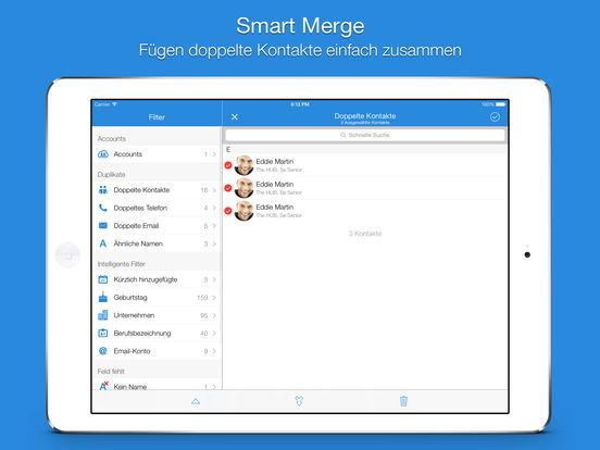 Smart Merge Pro - Doppelte Kontakte bereinigen Screenshot